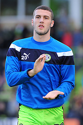 Alex Iacovitti of Forest Green Rovers applauds fans before kick-off  - Mandatory by-line: Nizaam Jones/JMP - 28/10/2017 - FOOTBALL - New Lawn Stadium - Nailsworth, England - Forest Green Rovers v Morecambe - Sky Bet League Two
