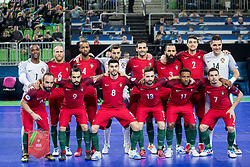 Players of Portugal during futsal match between Portugal and Spain in Final match of UEFA Futsal EURO 2018, on February 10, 2018 in Arena Stozice, Ljubljana, Slovenia. Photo by Urban Urbanc / Sportida