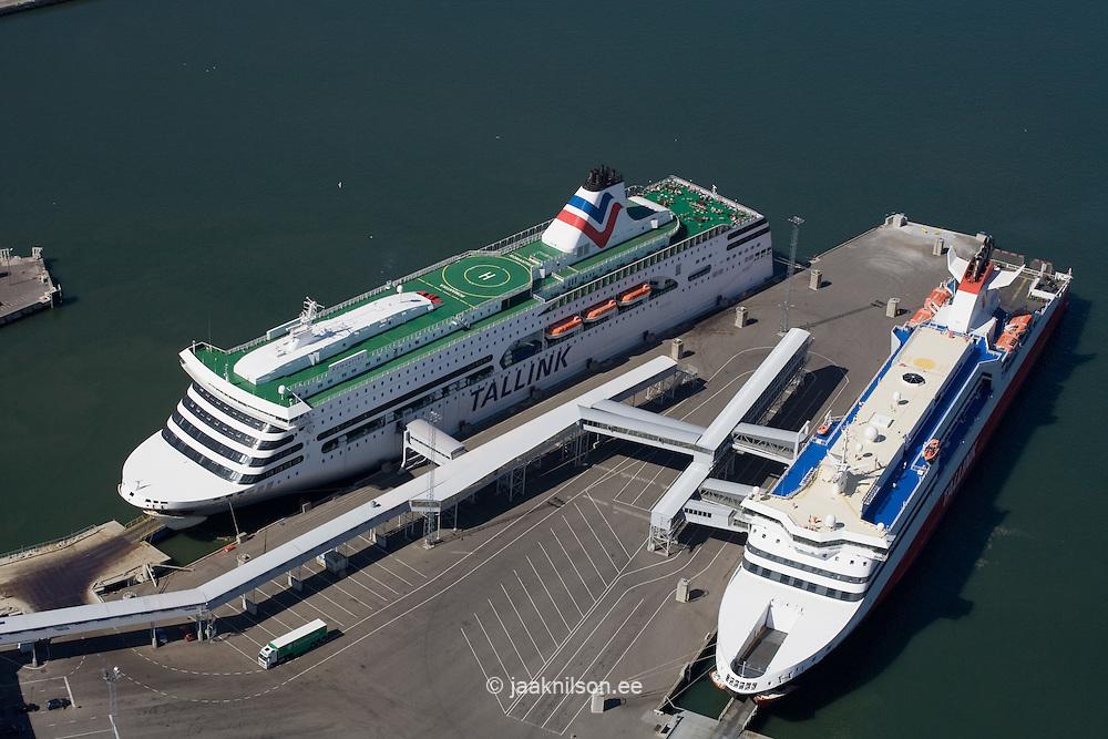 Aerial Photo of Cruiser in Tallinn Port, Estonia