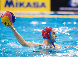 Frano Vican of Primorje during water polo match between Primorje Erste Bank (CRO) and Olympiacos Piraeus (GRE) in 8th Round of Champions League 2016, on April 16, 2016 in Kantrida pool, Rijeka, Croatia. Photo by Vid Ponikvar / Sportida