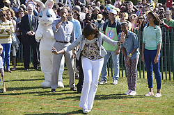 U.S. President Barack Obama and the First Family participate in the annual White House Easter Egg Roll on the South Lawn of the White House in Washington D.C., capital of the United States, April 1, 2013. U.S. President Barack Obama hosted the annual celebration of Easter on Monday, featuring Easter egg roll, live music, sports, cooking and storytelling,  April 1, 2013. Photo by Imago / i-Images...UK ONLY..