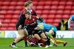 Saracens Scrum-Half (#9) Richard Wigglesworth in action during the first half of the match - Photo mandatory by-line: Rogan Thomson/JMP - Tel: Mobile: 07966 386802 04/11/2012 - SPORT - RUGBY - Vicarage Road - Watford. Saracens v London Wasps - Aviva Premiership