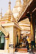 Inside Sule Pagoda. Yangon, Myanmar