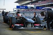 February 20, 2013 - Barcelona Spain. Nico Hulkenberg, Sauber F1 Team  during pre-season testing from Circuit de Catalunya.