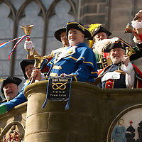 Edinburgh 31th March 2007 The Lord Provost's Invitational Town Criers' Tournament. Mercat Cross, High Street
