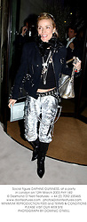 Social figure DAPHNE GUINNESS, at a party in London on 12th March 2003.PHY 182