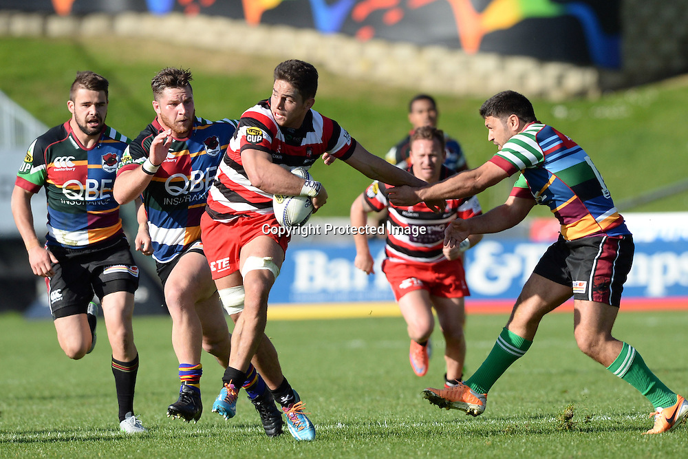 Counties Manukau's Sam Henwood in action  during the ITM Cup match between North Harbour and Counties Manukau. QBE Stadium, Auckland, New Zealand. Saturday 12 September 2015. Copyright Photo: Raghavan Venugopal / www.photosport.nz