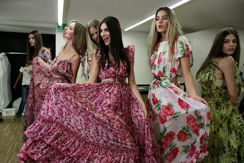 Milan, Italy, September 23, 2010. Backstage at D&G during the Milan Women's Fashion Week Spring/Summer 2011.