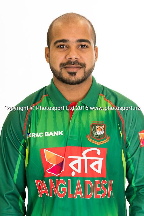 Tanbir Hayder Khan, Bangladesh cricket team headshots ahead of their New Zealand tour. Cobham Oval, Whangarei. 21 December 2016. Copyright Image: Heath Johnson / www.photosport.nz