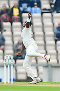 Fidel Edwards of Hampshire bowling during the Specsavers County Champ Div 1 match between Hampshire County Cricket Club and Worcestershire County Cricket Club at the Ageas Bowl, Southampton, United Kingdom on 13 April 2018. Picture by Graham Hunt.