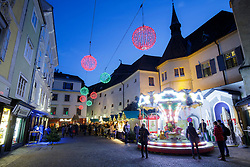 THEMENBILD -Der Christkindlmarkt am Franziskaner Platz vor der Franziskaner Kirche am 24. November 2017 in Graz // THEMES PICTURE - A christmas market at the 'Franziskaner Platz' on 24 November 2017 in Graz, Austria. EXPA Pictures © 2017, PhotoCredit: EXPA/ Erwin Scheriau