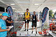 STAIR RACE<br /> MEDAL PRESENTATION<br /> Downer NZ Masters Games 2019<br /> 20190204<br /> WHANGANUI, NEW ZEALAND<br /> Photo KEVIN CLARKE CMGSPORT<br /> WWW.CMGSPORT.CO.NZ