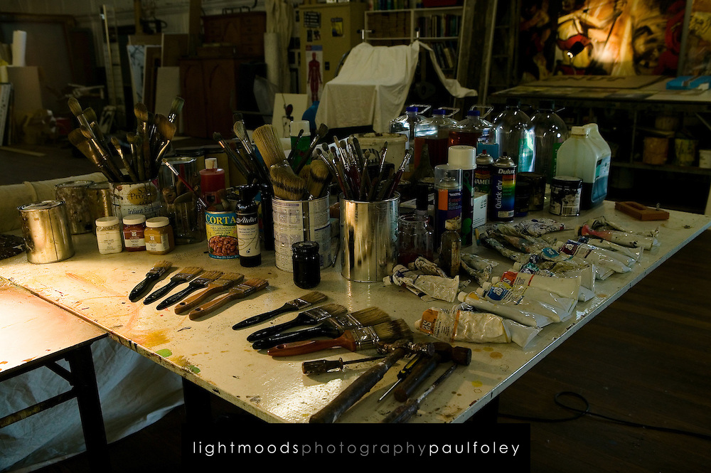 Close-up of Artist's brushes