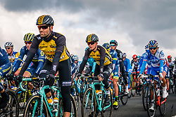 Peloton with riders of Team LottoNL-Jumbo during the UCI WorldTour 103rd Liège-Bastogne-Liège from Liège to Ans with 258 km of racing at Deigne (238 km to go), Belgium, 23 April 2017. Photo by Pim Nijland / PelotonPhotos.com | All photos usage must carry mandatory copyright credit (Peloton Photos | Pim Nijland)