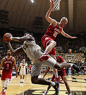 WEST LAFAYETTE, IN - FEBRUARY 28: Caleb Swanigan #50 of the Purdue Boilermakers shoots the ball and is fouled by Tim Priller #35 of the Indiana Hoosiers at Mackey Arena on February 28, 2017 in West Lafayette, Indiana.  (Photo by Michael Hickey/Getty Images) *** Local Caption *** Caleb Swanigan; Tim Priller