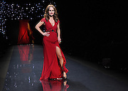 Giada De Laurentiis walks the runway at the Go Red For Women The Heart Truth Red Dress Collection 2014, made possible by Macy's and SUBWAY Restaurants, Thursday, Feb. 6, 2014, during Fashion Week in New York.  (Photo by Diane Bondareff for Go Red For Women)