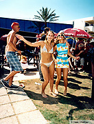 Two girls wearing a bikini and sun dress Ibiza 1999