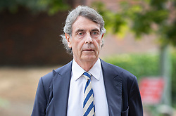 © Licensed to London News Pictures. 18/07/2018. Woking, UK. Judge Coroner Peter Rook QC arrives at Woking Coroner's Court. The coroner will read out his full ruling today. Private Sean Benton was found with five gunshot wounds to his chest at Deepcut army base in 1995. Photo credit: Peter Macdiarmid/LNP