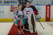 KELOWNA, CANADA - SEPTEMBER 28: Third Star of the game at the Kelowna Rockets game on September 28, 2016 at Prospera Place in Kelowna, British Columbia, Canada.  (Photo By Cindy Rogers/Nyasa Photography,  *** Local Caption ***