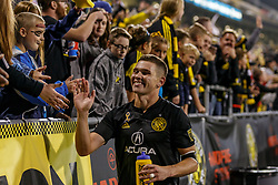 September 22, 2018 - Columbus, OH, U.S. - COLUMBUS, OH - SEPTEMBER 22: Columbus Crew midfielder Wil Trapp (6) greets fans after winning the MLS regular season game between the Columbus Crew SC and the Colorado Rapids on September 22, 2018 at Mapfre Stadium in Columbus, OH. The Crew won 2-1. (Photo by Adam Lacy/Icon Sportswire) (Credit Image: © Adam Lacy/Icon SMI via ZUMA Press)