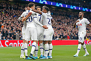 CORRECTION GOAL 1-0 Tottenham Hotspur forward Harry Kane (10) scores and celebrates during the Champions League match between Tottenham Hotspur and Red Star Belgrade at Tottenham Hotspur Stadium, London, United Kingdom on 22 October 2019.