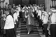 25/07/1962<br /> 07/25/1962<br /> 25 July 1962<br /> Consecration Rev. Dr Grimley S.M.A. as Bishop of Cape Palmas, Liberia at the Pro Cathedral, Dublin. Picture shows Very Rev. Nicholas Grimley S.M.A., imparting his blessing as he leaves the Pro Cathedral after the ceremony.