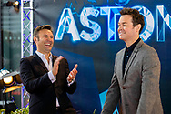 Singer Jonathan Wilkes (left) and Stephen Mulhern at the premiere of Astonishing in Southampton. The show is a revolutionary magic and illusion show produced by Wilkes and BAFTA-winning presenter and entertainer Mulhern. Astonishing is currently live on three P&O Cruises ships Britannia, Azura and Ventura. It combines the production talents of Mulhern and Wilkes with the spectacular dance moves of leading choreographer Paul Domaine and the mind-blowing trickery of master illusionist Guy Barrett. <br /> Picture date: Sunday June 17, 2018.<br /> Photograph by Christopher Ison ©<br /> 07544044177<br /> chris@christopherison.com<br /> www.christopherison.com