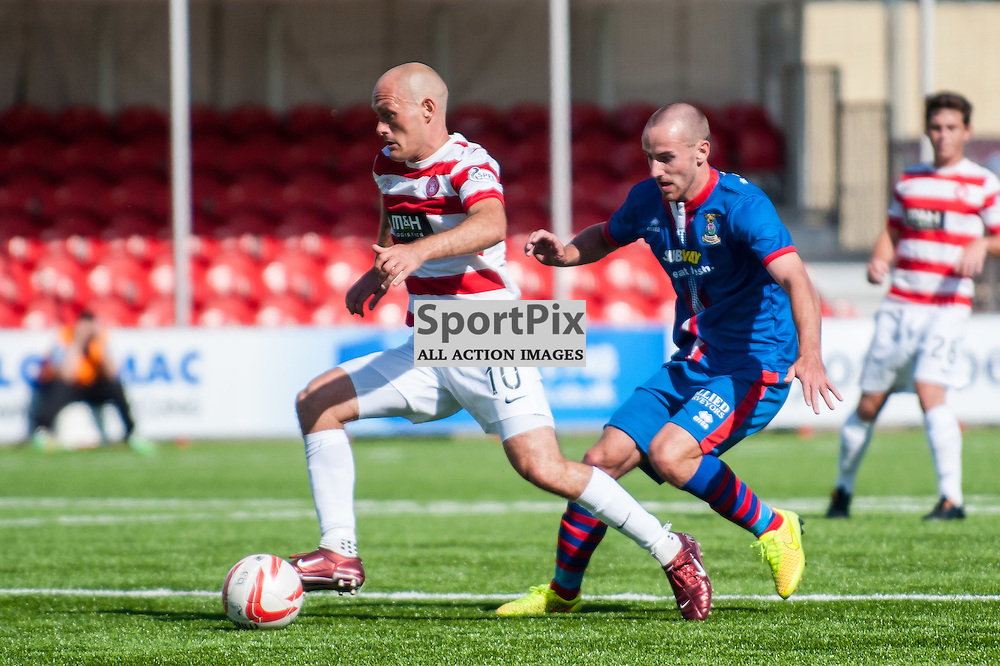 Hamilton Accies Player-manager Alex Neil. Action from the Hamilton Accies v Inverness Caledonian Thistle game in the Scottish Premiership at New Douglas Park in Hamilton, 9 August 2014. (c) Paul J Roberts / Sportpix.org.uk