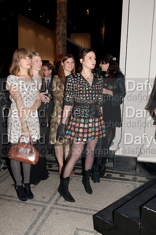 ABIGAIL TYE; SUSANNAH BROWN, RACHEL STIRLING, Cecil Beaton private view. V and A Museum. London. 6 February 2012