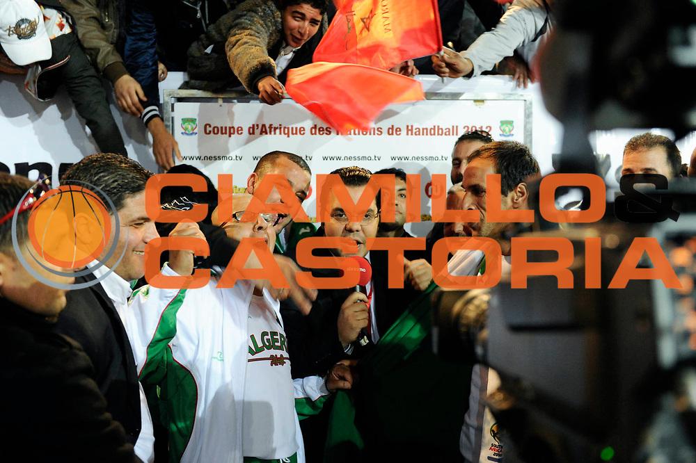 DESCRIZIONE : France Hand Coupe Afrique des Nations Homme Maroc Rabat<br /> GIOCATORE : TV Algerie<br /> SQUADRA : Algerie<br /> EVENTO : FRANCE Hand CAN<br /> GARA : Algerie Egypte<br /> DATA :19/01/2012<br /> CATEGORIA : Hand CAN<br /> SPORT : Handball<br /> AUTORE : JF Molliere <br /> Galleria : France Hand 2011-2012 Action<br /> Fotonotizia : CAN Hand RABAT Maroc<br /> Predefinita :