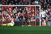 Tottenham Hotspur midfielder Erik Lamela celebrates his goal during the Barclays Premier League match between Bournemouth and Tottenham Hotspur at the Goldsands Stadium, Bournemouth, England on 25 October 2015. Photo by Mark Davies.