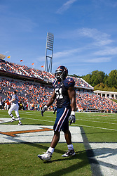 Virginia linebacker Clint Sintim (51) before the start of the ECU game.  The Virginia Cavaliers defeated the East Carolina Pirates 35-20 in NCAA football at Scott Stadium on the Grounds of the University of Virginia in Charlottesville, VA on October 11, 2008.
