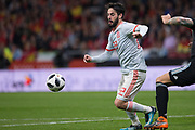 Isco of Spain during the International friendly game football match between Spain and Argentina on march 27, 2018 at Wanda Metropolitano Stadium in Madrid, Spain - Photo Rudy / Spain ProSportsImages / DPPI / ProSportsImages / DPPI