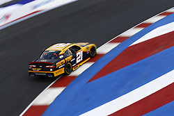 September 27, 2018 - Concord, North Carolina, United States of America - Daniel Hemric (21) brings his car through the turns during practice for the Drive for the Cure 200 at Charlotte Motor Speedway in Concord, North Carolina. (Credit Image: © Chris Owens Asp Inc/ASP via ZUMA Wire)