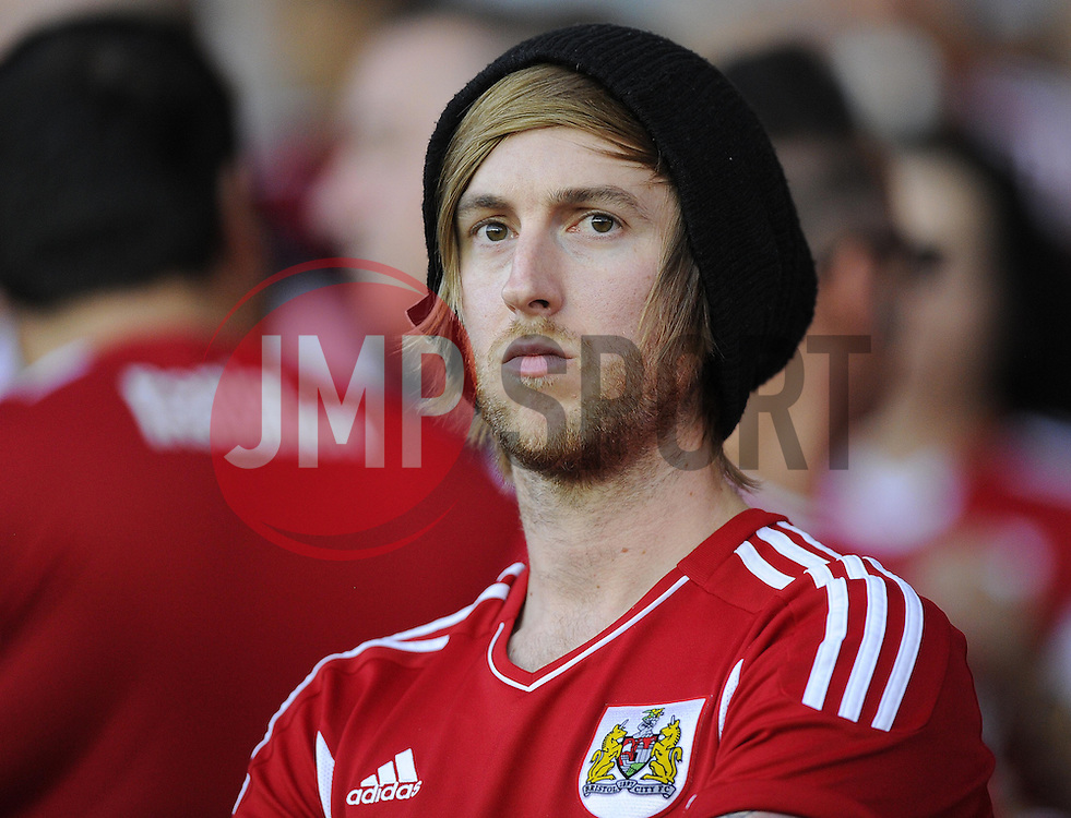 Bristol city Fan  - Photo mandatory by-line: Joe Meredith/JMP - Tel: Mobile: 07966 386802 04/09/2013 - SPORT - FOOTBALL -  Ashton Gate - Bristol - Bristol City V Bristol Rovers - Johnstone Paint Trophy - First Round - Bristol Derby