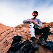Prepping for BASE Jump in Moab Utah