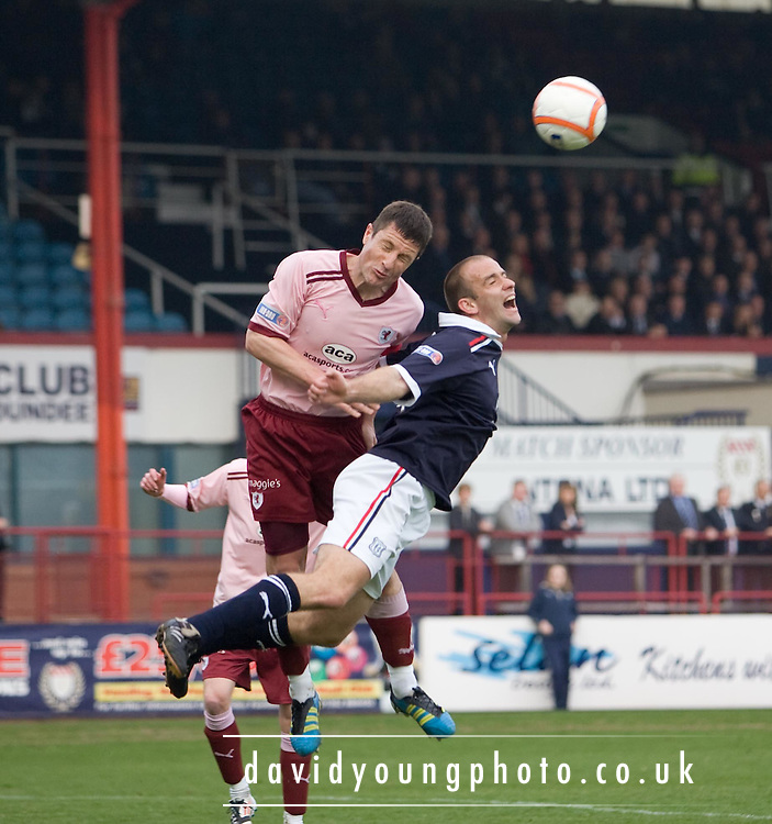 Raith Rovers' Grant Murray  and Dundee's Graham Bayne - Dundee v Raith Rovers, Irn Bru Scottish Football League First Division at Dens Park..© David Young - 5 Foundry Place - Monifieth - DD5 4BB - Telephone 07765 252616 - email; davidyoungphoto@ggmail.com - web; davidyoungphoto.co.uk