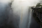 Kaieteur Falls<br /> GUYANA<br /> South America<br /> Kaieteur Falls is the world's widest single drop waterfall, located on the Potaro River in the Kaieteur National Park, in Essequibo, Guyana,<br /> Height: 741′<br /> Elevation: 1,581′<br /> Number of drops: 1<br /> Longest drop: 741′<br /> Watercourse: Potaro River