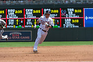 Chris Herrmann #12 of the Minnesota Twins sprints to 3rd base against the Seattle Mariners on June 2, 2013 at Target Field in Minneapolis, Minnesota.  The Twins defeated the Mariners 10 to 0.  Photo: Ben Krause
