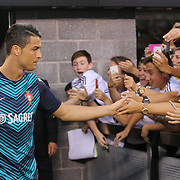 Cristiano Ronaldo, Portugal, emerges for warm up during the Portugal V Ireland International Friendly match in preparation for the 2014 FIFA World Cup in Brazil. MetLife Stadium, Rutherford, New Jersey, USA. 10th June 2014. Photo Tim Clayton