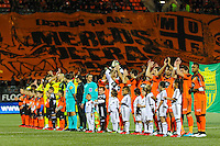 Equipe avant match / tifo supporters Lorient  - 20.12.2014 - Lorient / Nantes - 19eme journee de Ligue 1 -<br /> Photo : Vincent Michel / Icon Sport