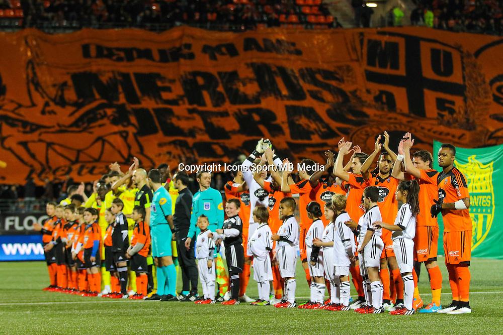 Equipe avant match / tifo supporters Lorient  - 20.12.2014 - Lorient / Nantes - 19eme journee de Ligue 1 -<br /> Photo : Vincent Michel / Icon Sport