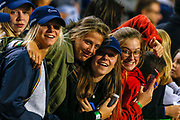 Athletics fans during the IAAF Diamond League event at the King Baudouin Stadium, Brussels, Belgium on 6 September 2019.