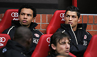 Photo: Paul Thomas.<br />Manchester United v Wigan Athletic. The Barclays Premiership. 26/12/2006.<br /><br />Cristiano Ronaldo (R) starts on the bench.