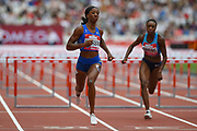 Kendra Harrison of the United States of America wins the Women's 100m Hurdles Final during the Muller Anniversary Games at the London Stadium, London, England on 9 July 2017. Photo by Martin Cole.