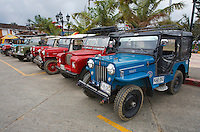 Old Land Rovers Series 2 and Willys Jeeps, Salento, Armenia, Colombia, South America