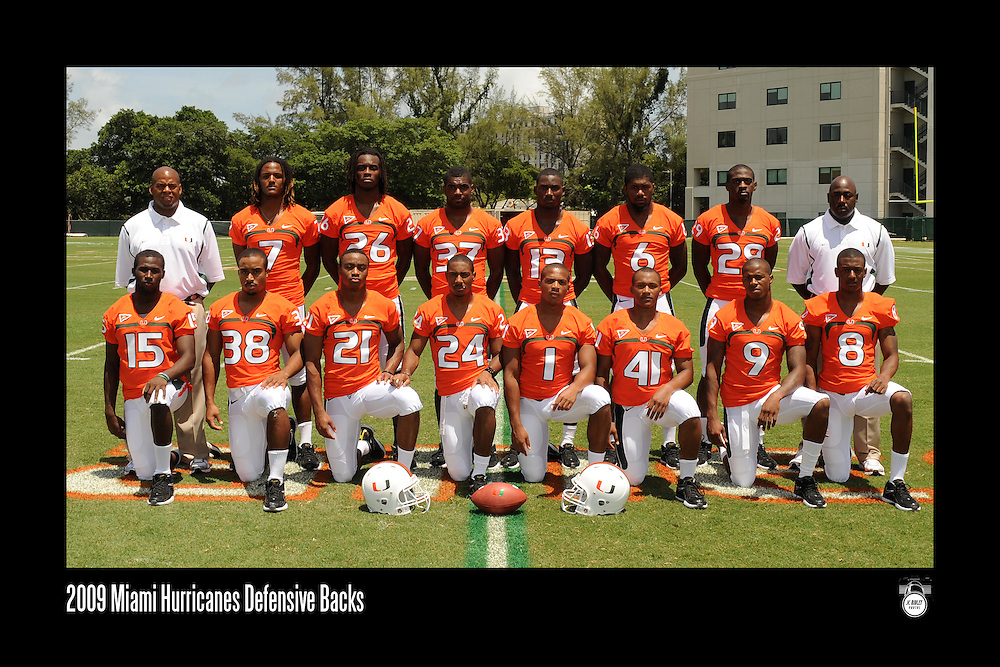 2009 Miami Hurricanes Football Photo Day