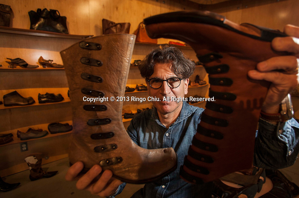 Rafi Balouzian found of Cydwoq. Balouzian was an architect before he began designing high-end custom shoes. The company has been making shoes in its Burbank factory since 1996. Influenced by architecture and automotive design, he comes from a long line of master shoe-makers. (Photo by Ringo Chiu/PHOTOFORMULA.com).