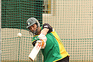 Matthew Sinclair of the Central Stags attacks a delivery during the Central Stags training session held at St Georges Park in Port Elizabeth on the 17 September 2010..Photo by: Shaun Roy/SPORTZPICS/CLT20