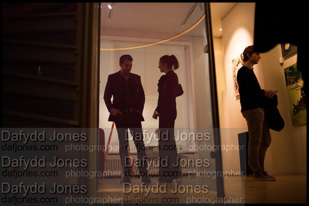 AMALEISA STEVENS;  James Franco exhibition 'Fat Squirrel' at Siegfried Contemporary, Basset Rd, London W10. 23 November 2014.
